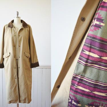 LL Bean Classic Canvas Full Length Field Coat | Vintage LL Bean Chore Coat | M by wemcgee