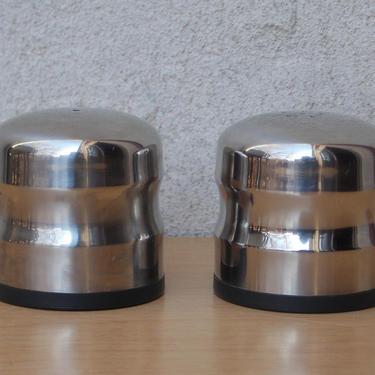 Danish Modern Stainless Steel Salt and Pepper Set by ilikemikes