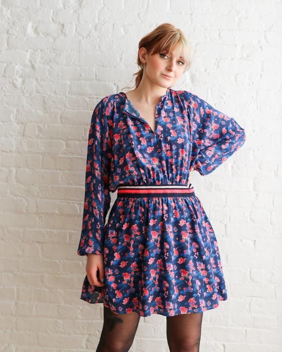 Tanya Taylor Floral Print Mini Dress, Size 8