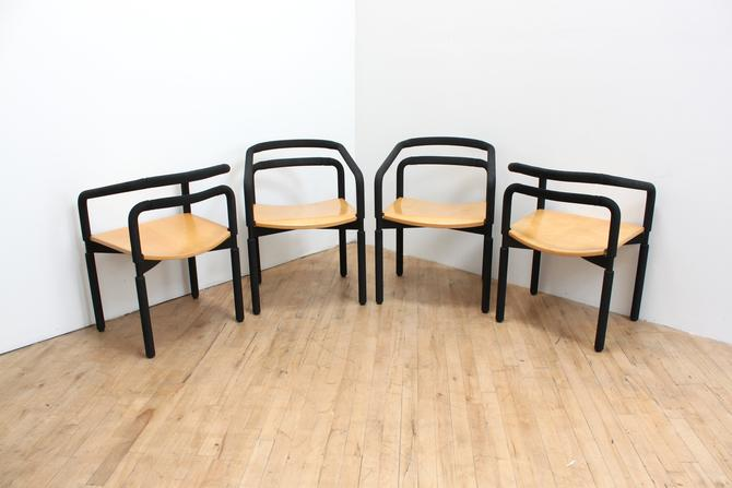 1983 Brian Kane Rubber Chairs Post Modern Metropolitan Furniture SFMOMA Sculptural by 330ModernAntique