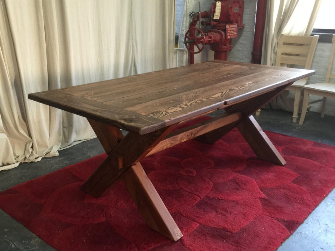 Available now dining table farmhouse table reclaimed for Buy reclaimed wood los angeles