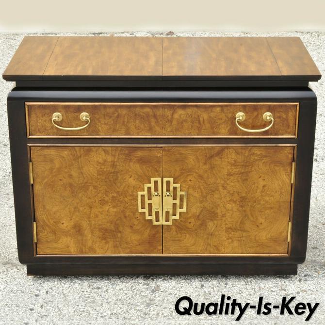 Century Furn. Chin Hua James Mont Style Oriental Burl Wood Bar Server Cabinet