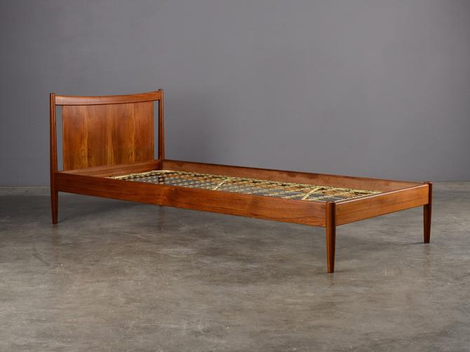 Teak Twin Size Bed by Peter Hvidt Mid-Century Danish Modern by MadsenModern