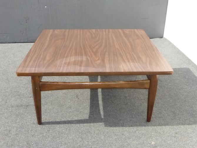 Vintage Danish Mid Century Modern Square Peg Leg Coffee Table by VintageLAfurniture