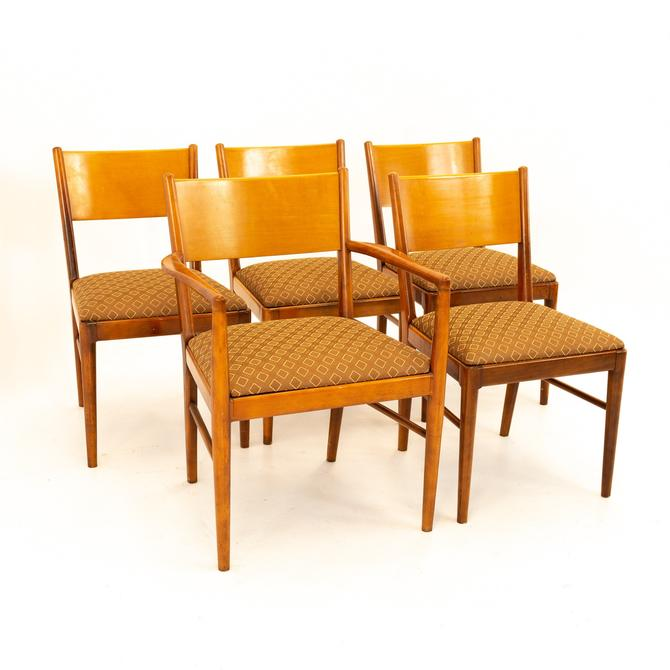 Broyhill Style Mid Century Walnut Dining Chairs - Set of 5 - mcm by ModernHill
