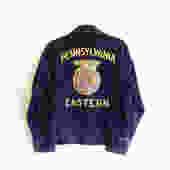 Vintage 70s FFA Corduroy Jacket/ Future Farmers Of America Chainstitch Pennsylvania Eastern/ Small Medium 38 by bottleofbread
