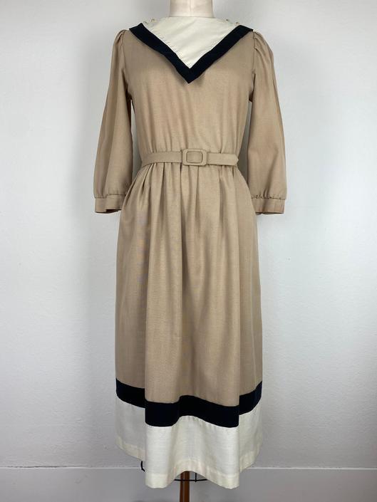 vintage sailor collared 1980s dress size medium by miragevintageseattle