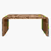Karl Springer Exceptional Waterfall Console Table in Lacquered Tessellated Horn 1970s