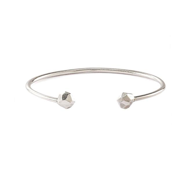 Faceted Open Bangle