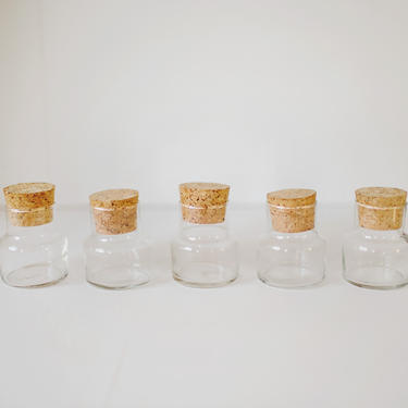 Cork Jars, Industrial Glassware, Science Beakers, Propegation Plant Glasses Jars Containers by cedargrey
