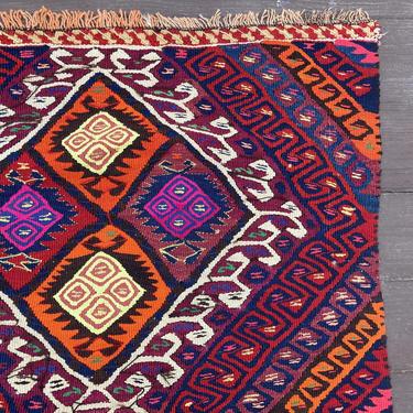 Turkish Rug 2' 10 x 8' 4 Kilim Runner Oriental Rug by JessiesOrientalRugs