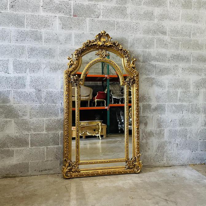 French Mirror *1 in Stock 7 Feet Tall Baroque Mirror Rococo Mirror Antique Mirror Vintage Mirror Gold Leaf Antique Furniture Interior Design by SittinPrettyByMyleen