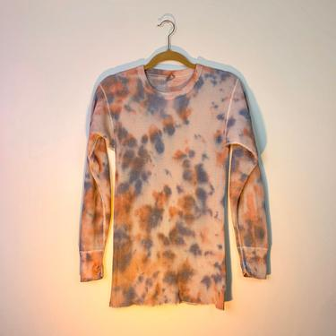 Coral & purple tie dye vintage thermal by shopjournal