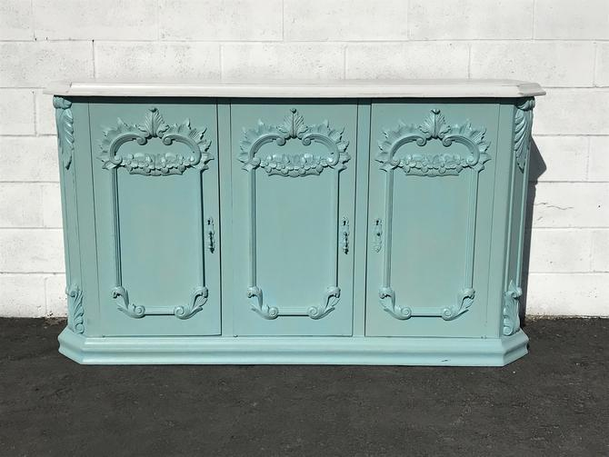 French Antique Victorian Sideboard Cabinet Hutch Carved Wood Console France Provincial Country Vintage Buffet Server Custom