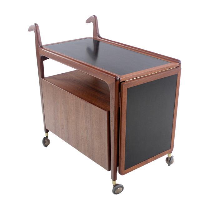 Scandinavian Modern Teak Bar/ Service Cart Designed by Arne Hovmand Olsen
