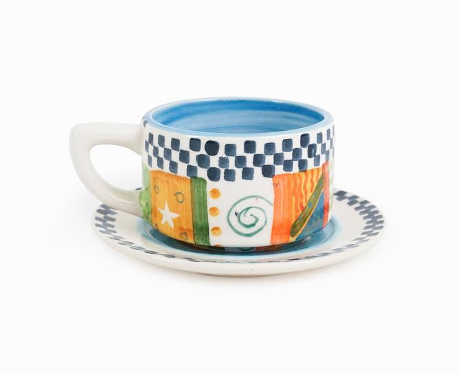 Judie Bomberger Small Ceramic Cup by VintageInquisitor