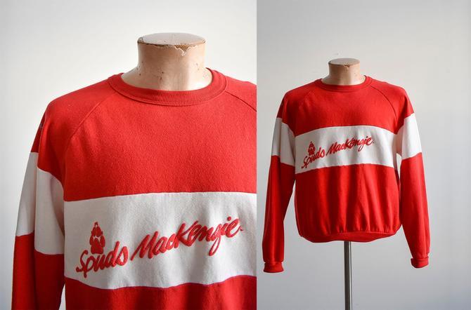 1980s Red & White Spuds Mackenzie Crewneck by milkandice