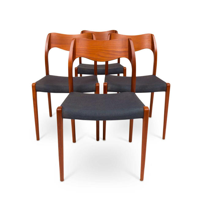 Set of Four Vintage Møller Model 71 Dinning Chairs by MCMSanFrancisco