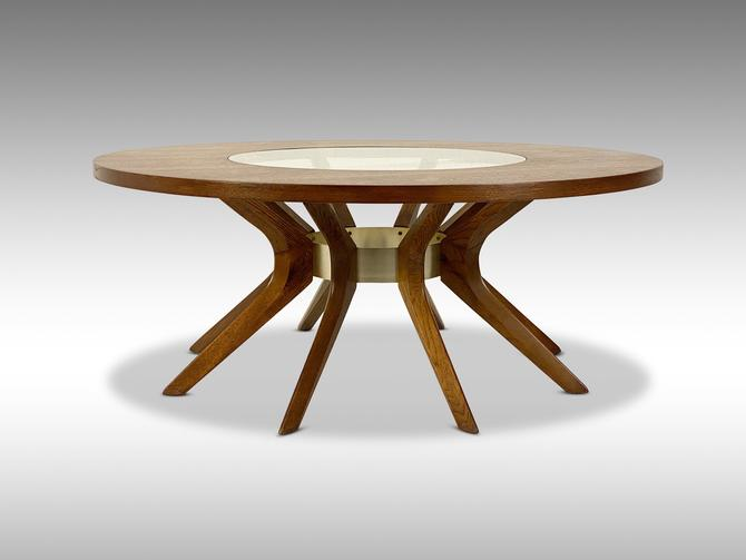 Broyhill Brasilia Cathedral Coffee Table, Circa 1960s - *Please ask for a shipping quote before you purchase. by CoolCatVintagePA
