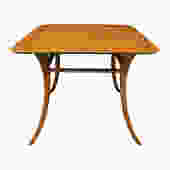 T.H. Robsjohn-Gibbings End Table In Walnut with Klismos Legs 1956 (Signed)