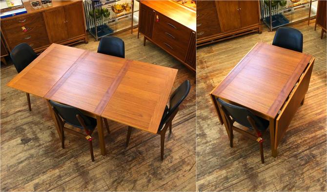 Danish Teak Drop Leaf Dining Table