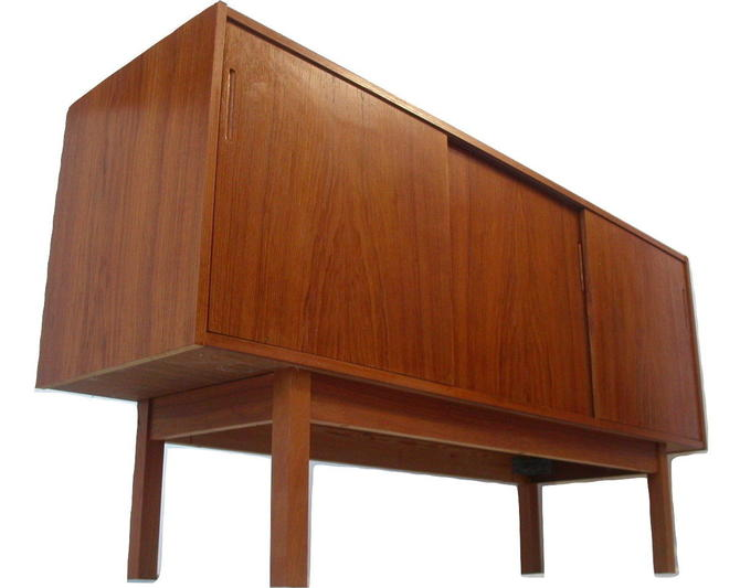 "Teak Danish Modern Credenza ONLY 59"" Long Mid Century MCM  Buffet"