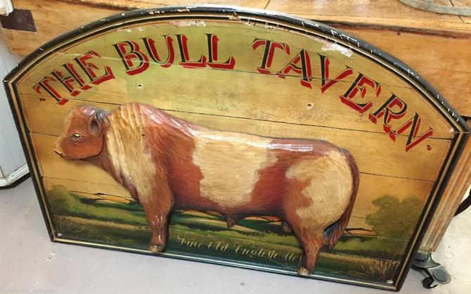 "British Pub Tavern Bar Sign: ""TheBull Tavern"" | Man Cave Décor"