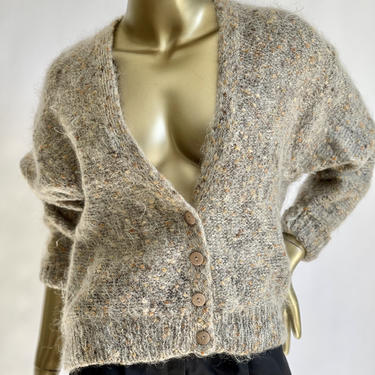 Mohair Blend Cropped Cardigan fits S - L by BeggarsBanquet