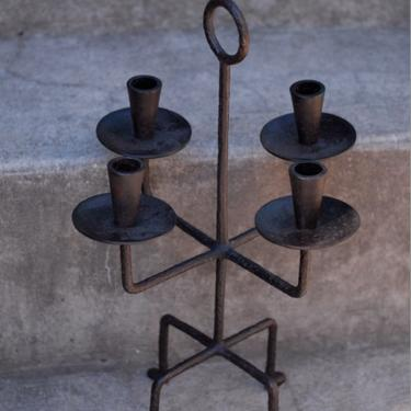 Tommi Parzinger Rare Hand Wrought Iron Candelabra
