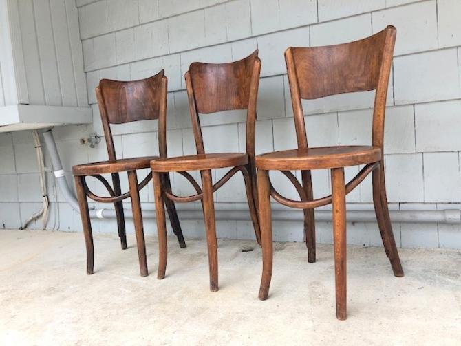 Rare Mundus Thonet Bentwood Chair Trio
