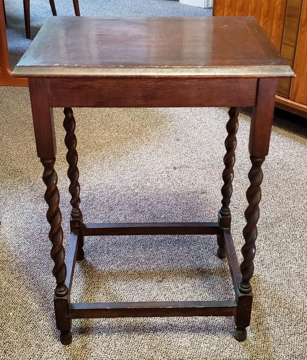 Item #MA87 English Oak Barley Twist Window Table c.1920