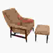 Folke Ohlsson Dux Lounge Chair and Ottoman by HearthsideHome