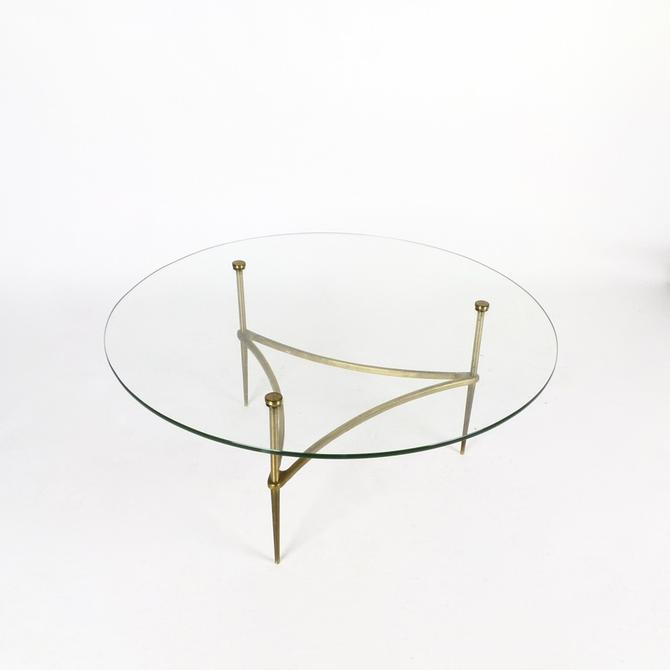 Italian Cocktail Table in Brass