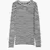 Long Sleeve Shirt - Black/White Stripe