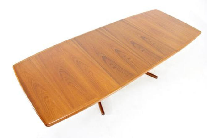 Mid Century Dining Table by Lourits M Larsens...Denmark. by SputnikFurnitureLLC