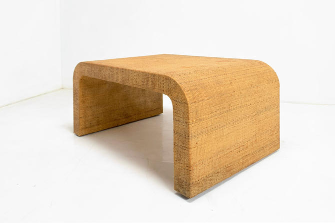 Grasscloth Waterfall Table by BetsuStudio