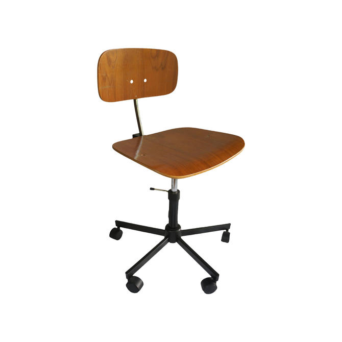 Jørgen Rasmussen for Rabami Danish Teak Kevi Swivel Desk Task Chair by MetronomeVintage