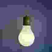 1960s Glass Bulb Lamp Pendant
