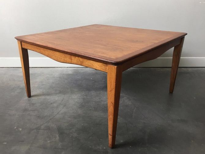 vintage mid century modern square coffee table.