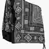 BCBG Max Azria - Black & White Printed One-Shoulder Blouse w/ Tie Sz S