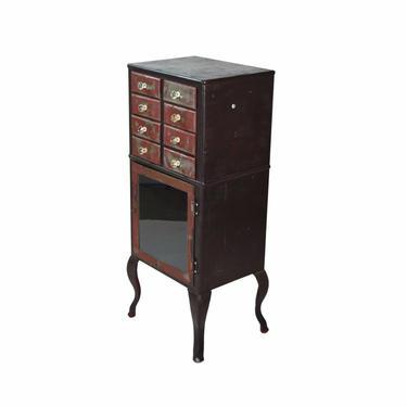 Vintage Industrial Steel Dental or Medical Cabinet w Accessory Drawers by PrairielandArt