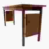 Erwin-Lambeth MCM Walnut Designer Console / Sofa Table