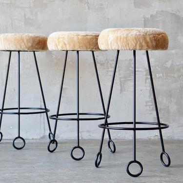 Made to Order Jean Royere Style Stools. by FandFVintage