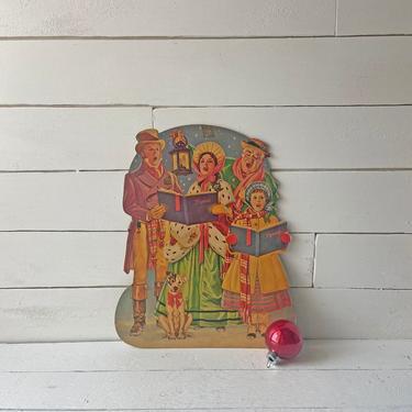 Vintage Christmas Carol, Ebenezer Scrooge, Christmas Ghost Story // Vintage Christmas Caroler Cut Out, Decoration // Christmas Lover, Gift by CuriouslyCuratedShop