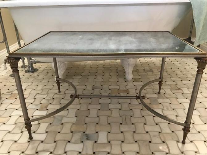 Vintage Jansen mirrored Regency table