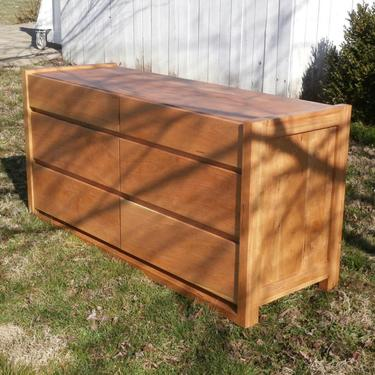 """X6320h *Hardwood 6 Drawer Dresser, Framed Ends, Overlap Drawers, 60"""" wide x 20"""" deep x 30"""" tall - natural color by SolidCherryHeirlooms"""