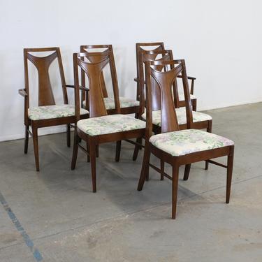 Set of 6 Mid-Century Modern Kent Coffey Walnut Dining Chairs by AnnexMarketplace