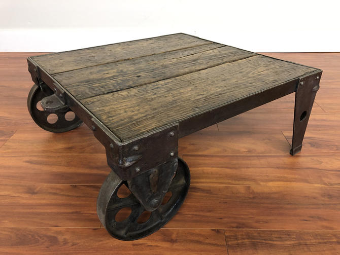 Factory Services Co Industrial Coffee Table by Vintagefurnitureetc