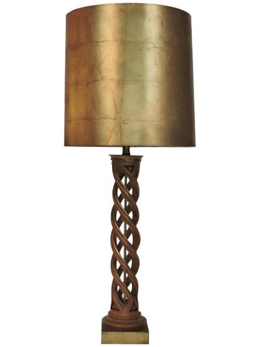 James Mont Helix Lamp Frederick Cooper Spiral Column with Shade