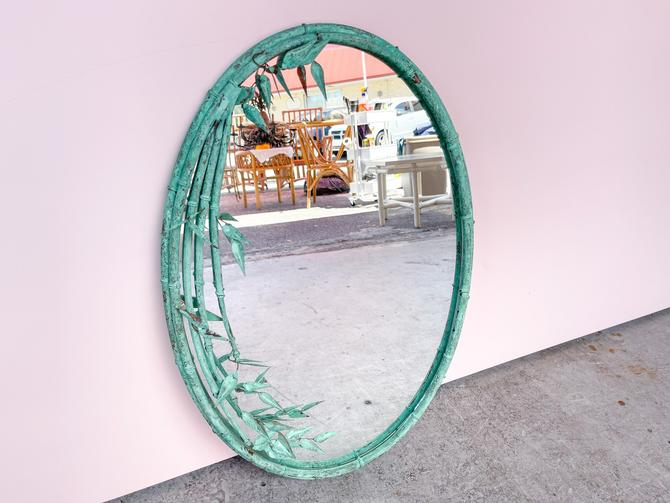 Copper Bamboo Leaf Mirror